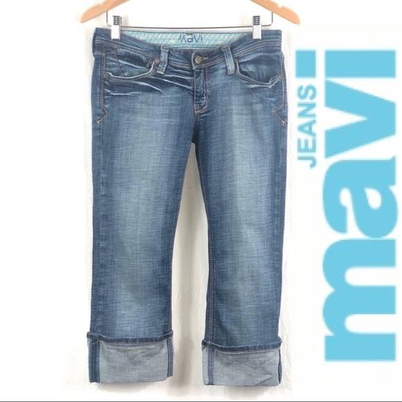 ❤️ 3/$30 MAVI 'Miriam' rolled crop jeans 👖